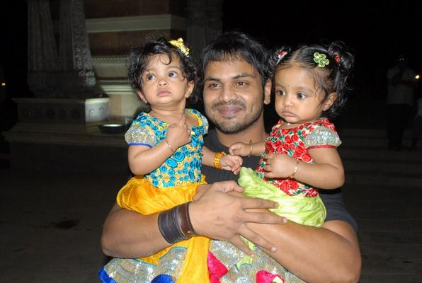 Vishnu Manchu and Viranica's Twin Daughters at Denikaina Ready Movie Logo Launch
