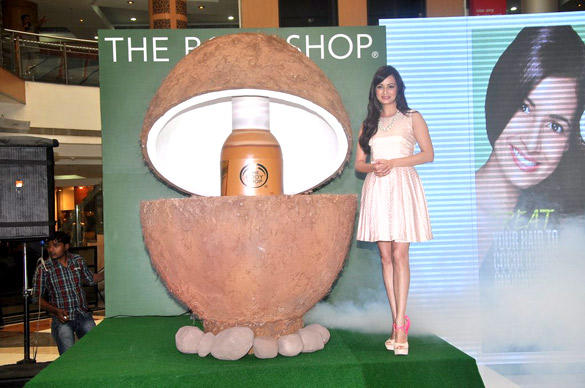 Sizzling Actress Dia Mirza Latest Photo Shoot at The Bodyshop Coconut Hair Oil Launch Event