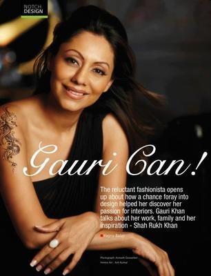 Gauri Khans Notch Magazine Sweet Hot Still