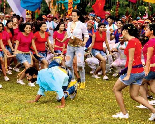 Sonakhsi Sinha And Prabhu Deva Song Still From OMG Oh My God