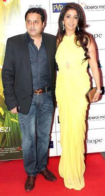 Krishika And Sunil Lulla Spotted At English Vinglish Premiere