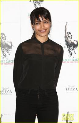 Freida Pinto Attended A Photocall For Her Upcoming Movie Desert Dancer In London