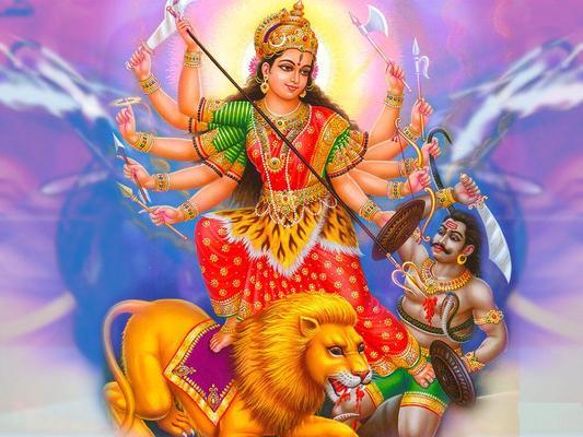 Goddess Durga In Navratri greetings
