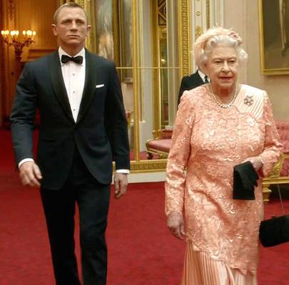 Queen Elizabeth II And Daniel In Red Carpet Nice Still