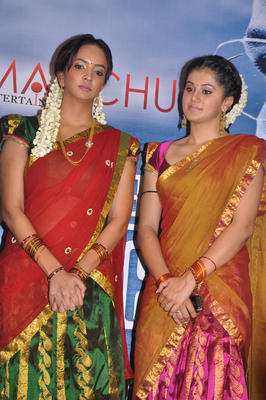 Manchu Lakshmi Prasanna And Tapsee At Maranthen Mannithen Audio Launch
