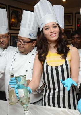Tamanna Participates In Christmas Cake Mixing Competition