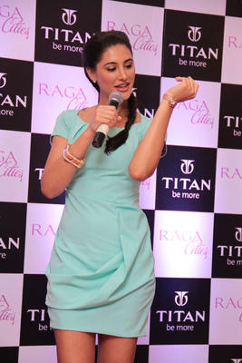 Nargis Fakri Unveils Cities Watch Collection From Titan Raga