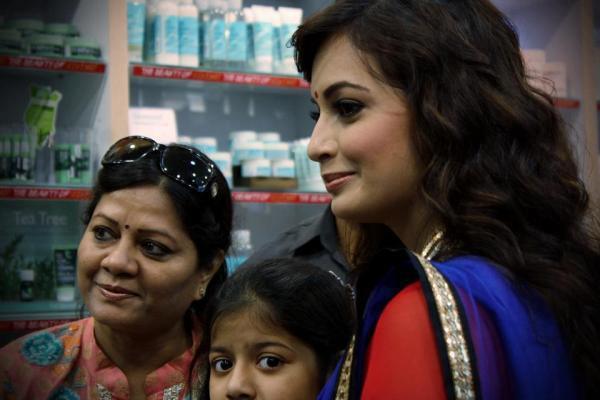 Dia Mirza Promotes The Body Shop At Select CityWalk In Delhi