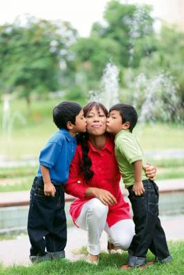 Mary Kom With Kids Nice Cool Photo Shoot For Prevention Magazine November 2012