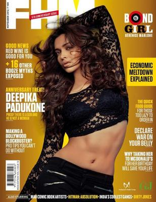 Deepika Looked Radiant And Hot With Flowing Hair On The Cover Of FHM India November