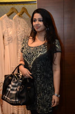 Charmy Kaur Clicked At Shantanu And Nikhil Designer Store Launch