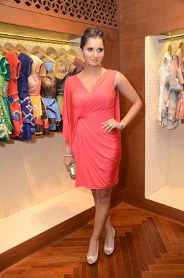 Sania Mirza At Shantanu And Nikhil Designer Store Launch