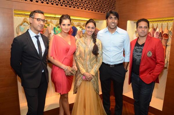 Sania,Shantanu,Nikhil And Others At Shantanu And Nikhil Designer Store Launch