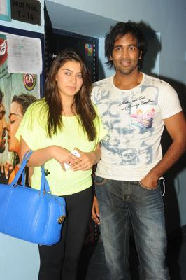 Vishnu And Hansika Clicked At Imax For Watch Denikaina Ready