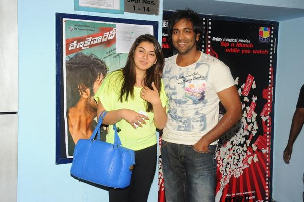 Vishnu And Hansika At Imax For Watch Denikaina Ready