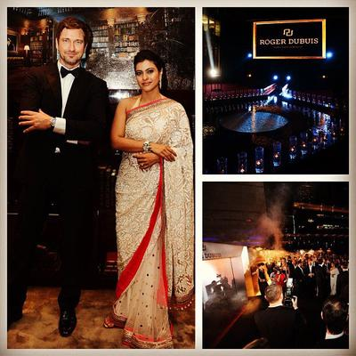Gerard Butler And Kajol Attend Roger Dubuis Launch In Dubai
