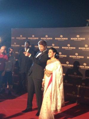Kajol And Gerard Glamorous Look Still At The Launch Of The Roger Dubuis Boutique