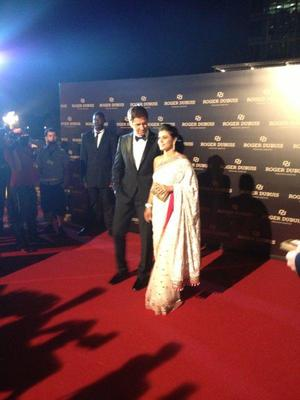 Kajol And Gerard Spotted On The Red Carpet During Roger Dubuis Launch