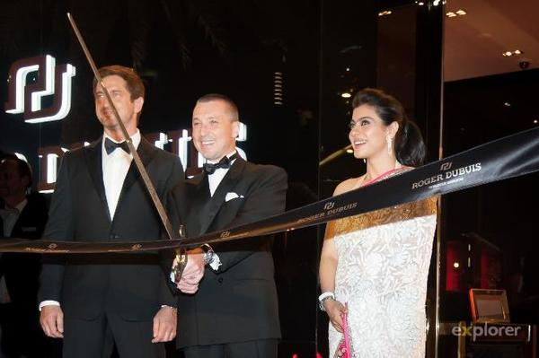 Kajol,Gerard And Jean Marc Photo Clicked At Roger Dubuis Launch In Dubai
