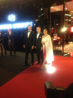 Kajol,Gerard And Jean Marc On Red Carpet At Roger Dubuis Store Opening In Dubai