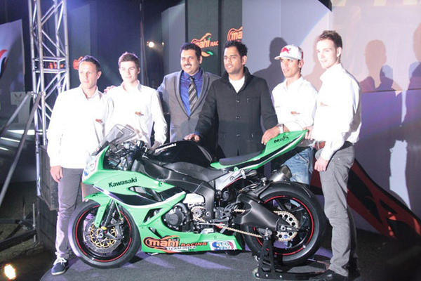 Mahendra Singh Dhoni At Mahi Racing Team India Launch