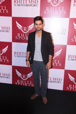 Virat Kohli Clicked At Dhoni Bike Racing Launch