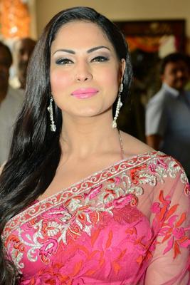 Veena Malik Hot Saree Stills At Nagna Satyam Movie Launch