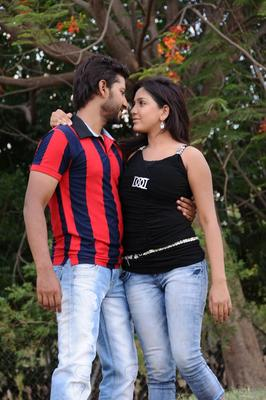 Ravi And Pavani Romance Still From Telugu Movie Double Trouble