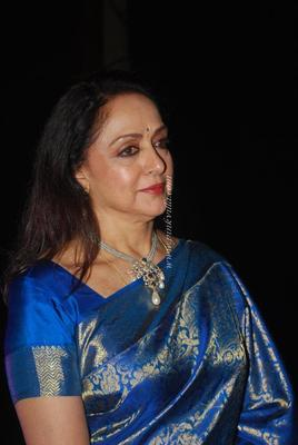Hema Malini Snapped At Nehru Centre During A Tribute To Her Mother