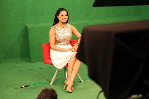 Veena Malik Interview With NTV Live Photos