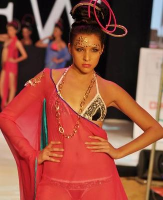 Shahazan Padamse Walks For Sushma Patel At IRFW 2012 Day 2