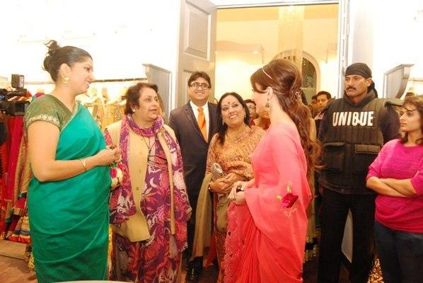 Soha And Pradeep With Guests Snapped At Luxury Fashion Store Kimaya Launch