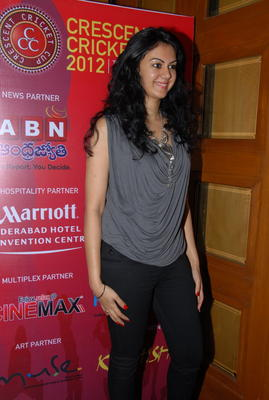 Kamna Jethmalani Spotted At Crescent Cricket Cup 2012 Press Meet