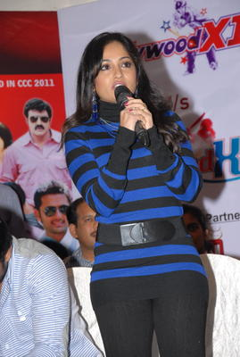 Madhavi Clicked At Crescent Cricket Cup 2012 Press Meet