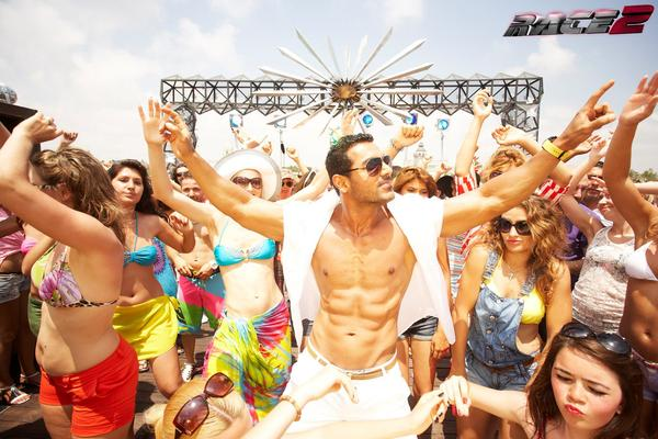 John Abraham Six Pack Show Photo In Race 2 Movie Song