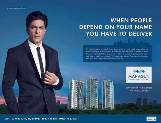 Shahrukh Perfect Look In Suit Ad For Real Estate Company Mahagun