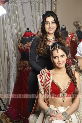 Shazahn Padamsee Photo Shoot In Designer Archan Kocchar Bridal Outfit