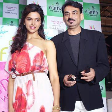 Deepika With Wendell At Fiama Di Wills Spa Collection Launch