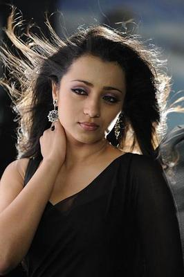 Actress Trisha Latest Photo Shoot In Black Saree
