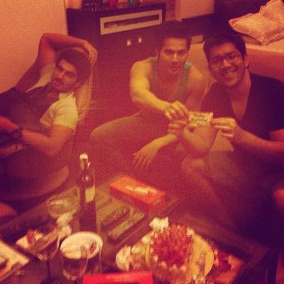 Varun And Arjun Celebrate Rohit Dhawan Birthday