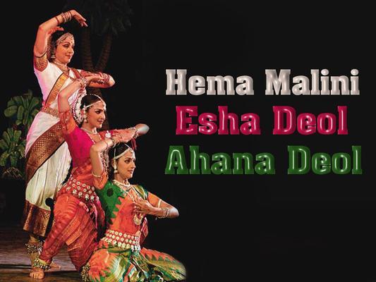 Hema Malini Dance Still with Esha Deol and Ahana Deol
