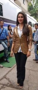 Kareena Kapoor In Brown Color Blazer Stylist Photo