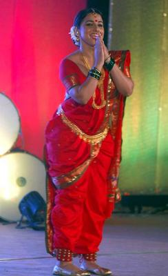 Vidya Balan Lavani Dance Pic In Her Upcoming Film In Traditional Saree