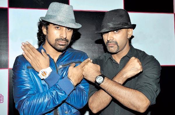 Ranvijay and Rajiv Lakshman At Anusha Dandekar International Debut Single Launch Party