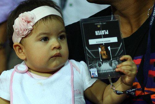 Lara Dutta Daughter Saira At Aircel Chennai Open 2013 Tennis Tournament