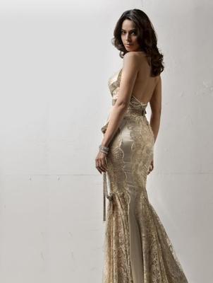 Mallika Sherawat Sexy Back Show Photo Still In A Long Gown