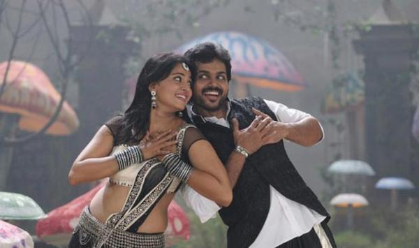 Anushka And Karthik Cute Smiling Song Still From Telugu Movie  Bad Boy