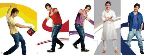 Shahid Kapoor In Different Color Photo Shoot For Dulux Colours And You Book