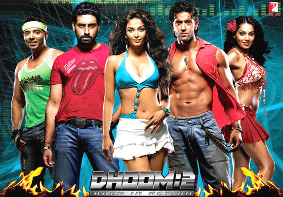 Abhishek,Uday,Hrithik,Aishwarya And Bipasha Dashing Look Photo From Movie Dhoom 2