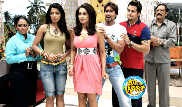Ajay,Fardeen,Bipasha And Mugdha Nice Acting Photo Still From Movie All The Best